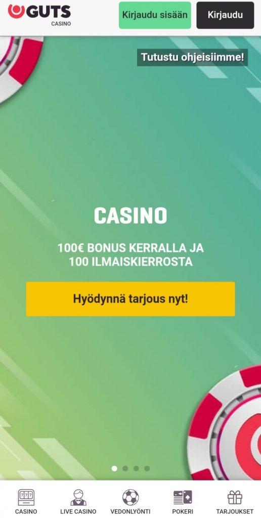 Guts casino mobiili